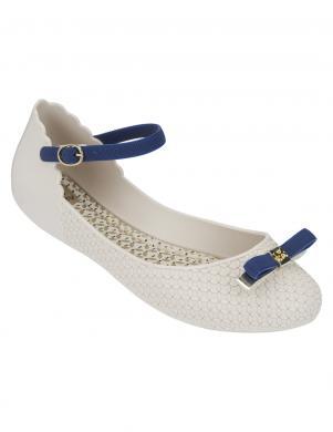 ZAXY sieviešu miesas krāsas brīva laika vasaras apavi ar zilu banti