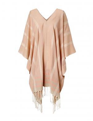 LIEBESKIND rozā krāsas kokvilnas sieviešu apmetnis ar ādas jostu