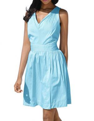 Stilīga vasaras gaiši zila kleita ALBA MODA