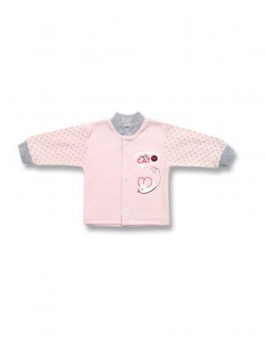 LAFEL rozā krāsas kokvilnas džemperis Cat