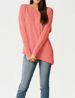 Koraļļu krāsas sieviešu džemperis no kašmira PATRIZIA DINI