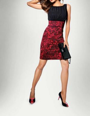 Melna un sarkana stilīga kleita HEINE