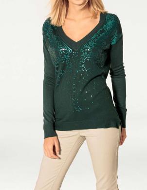 RICK CARDONA zaļas krāsas sieviešu džemperis