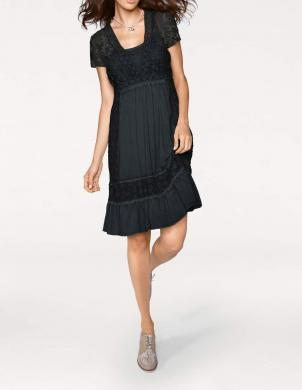 Mežģīņu melna kleita LINEA TESINI