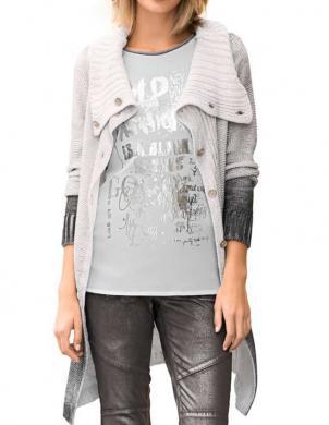 MANDARIN stilīgs pelēkas krāsas sieviešu džemperis