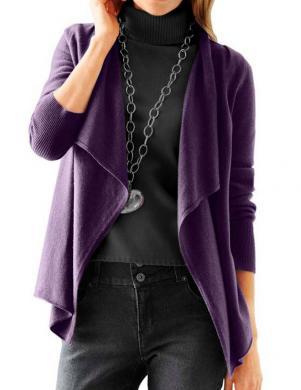 HEINE - BEST CONNECTIONS sieviešu violetas krāsas kardigans no kašmira