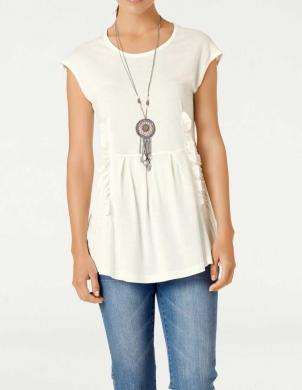 Krēmīgas krāsas sieviešu krekls LINEA TESINI
