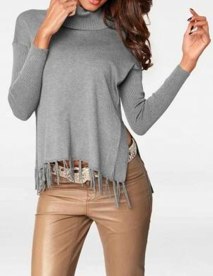 Pelēks džemperis ar augstu apkakli PATRIZIA DINI