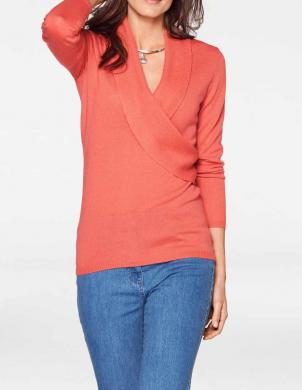 Koraļļu vilnas sieviešu džemperis PATRIZIA DINI