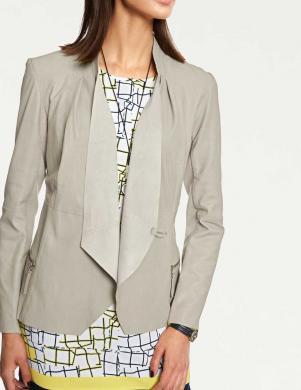 Smilšu krāsas ādas sieviešu jaka RICK CARDONA