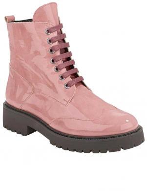 Stilīgi rozā lakotas ādas sieviešu zābaki HEINE