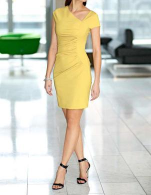 MANDARIN eleganta dzeltena kleita