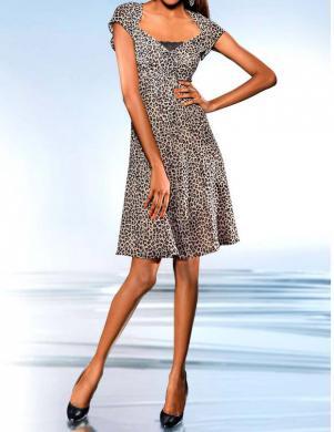 S. MADAN leoparda raksta skaista sieviešu kleita