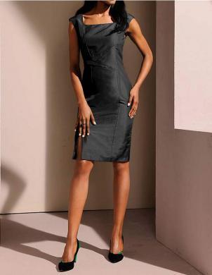 S. MADAN zīda stilīga melnas krāsas sieviešu kleita