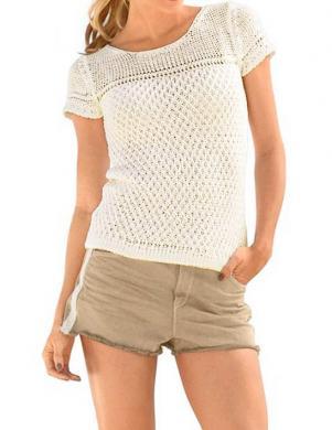 RICK CARDONA sieviešu džemperis ar īsām piedurknēm