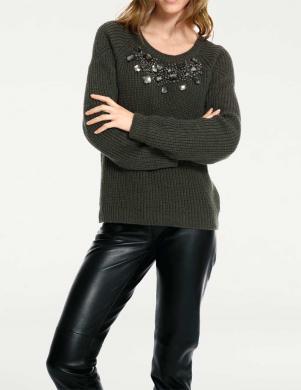Tumši zaļš sieviešu džemperis RICK CARDONA