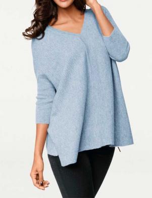 PATRIZIA DINI gaiši zilas krāsas stilīgs sieviešu džemperis no kašmira