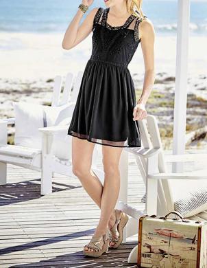 Melna stilīga kleita HEINE - BEST CONNECTIONS