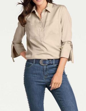 Smilšu krāsas sieviešu krekls PATRIZIA DINI