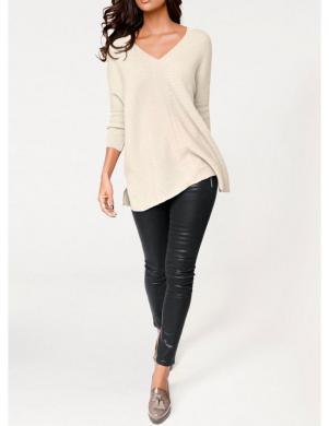 PATRIZIA DINI krēmīgas krāsas stilīgs sieviešu džemperis no kašmira