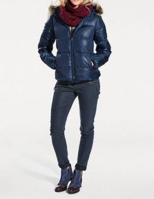 Zila dūnu jaka ar mākslīgu kažokādu HEINE - BEST CONNECTIONS