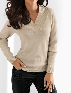 Smilšu krāsas viskozes džemperis HEINE