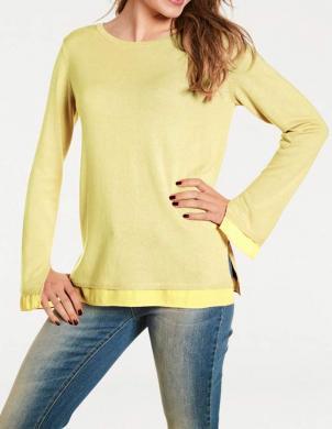 Dzeltenas krāsas  trikotāžas sieviešu blūze RICK CARDONA