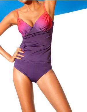CLASS INTERNATIONAL divu daļu violetas krāsas sieviešu peldkostīms