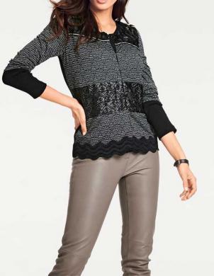 Melna stilīga sieviešu jaka ASHLEY BROOKE
