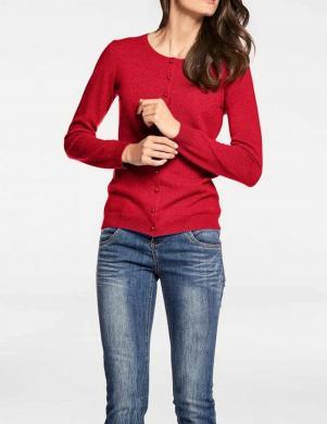Sarkanas aiztaisāms kašmira džemperis PATRIZIA DINI
