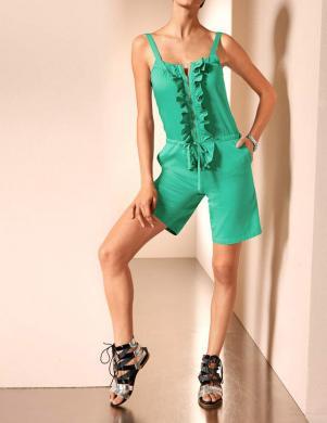 MANDARIN sieviešu zaļas krāsas kombinezons