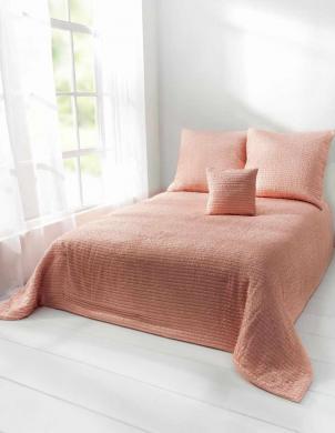 Rozā gultas pārklājs 240x250 HEINE