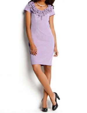 S. MADAN lavandas krāsas sieviešu kleita