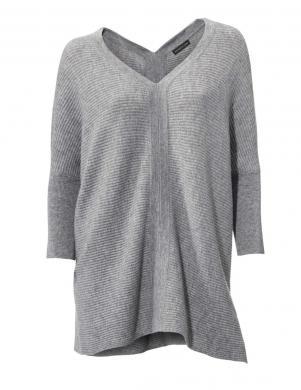 PATRIZIA DINI pelēkas krāsas stilīgs sieviešu džemperis no kašmira