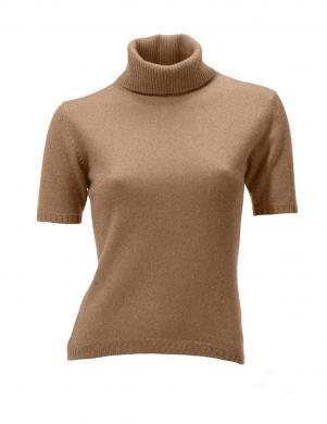HEINE - BEST CONNECTIONS sieviešu brūnas krāsas blūze ar augstu apkakli no kašmira
