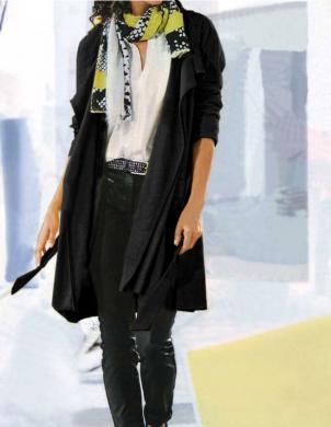 HEINE - BEST CONNECTIONS melnas krāsas stilīgs sieviešu mētelis