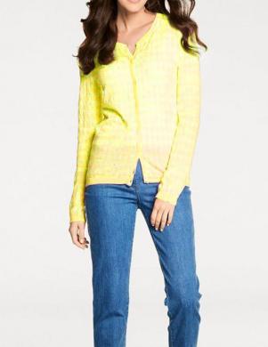 Dzeltens svītrains džemperis ar kašmiru PATRIZIA DINI