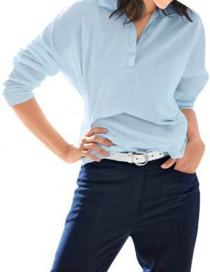 HEINE zilas krāsas stilīga sieviešu blūze