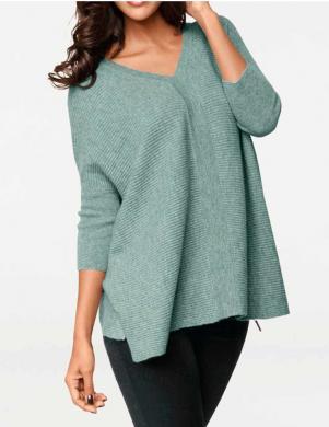 PATRIZIA DINI piparmētru krāsas stilīgs sieviešu džemperis no kašmira