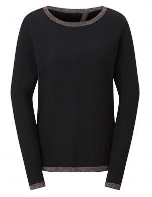 Melns džemperis ar šķēlumu aizmugurē CREATION L