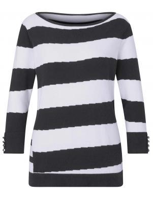 Svītrains džemperis ar zīdu CREATION L