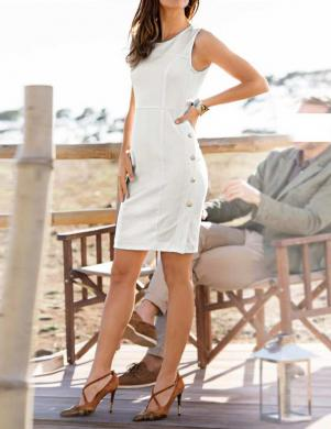 ASHLEY BROOKE baltas krāsas eleganta sieviešu kleita