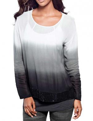 HEINE - BEST CONNECTIONS baltas/pelēkas krāsas stilīga sieviešu blūze