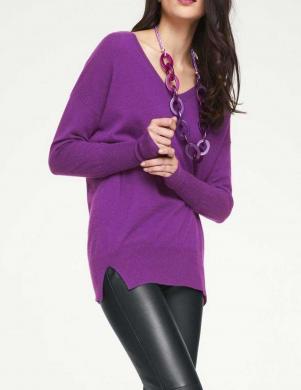 Garš ciklamena krāsas kašmira džemperis PATRIZIA DINI
