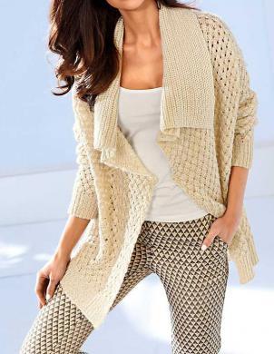 ASHLEY BROOKE skaists krēmīgas krāsas sieviešu džemperis