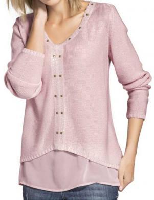 MANDARIN stilīgs rozā krāsas sieviešu džemperis