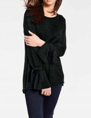 Melns džemperis ar sašaurinātām piedurknēm RICK CARDONA