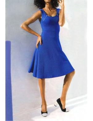 CLASS INTERNATIONAL eleganta zilas krāsas kleita