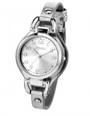 Sudraba krāsas sieviešu pulkstenis POOLS