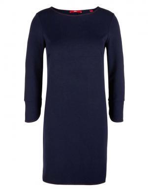 Tumši zila trikotāžas kleita S. Oliver
